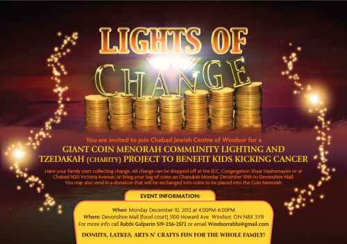 Lights of Change to benefit Kids Kicking Cancer