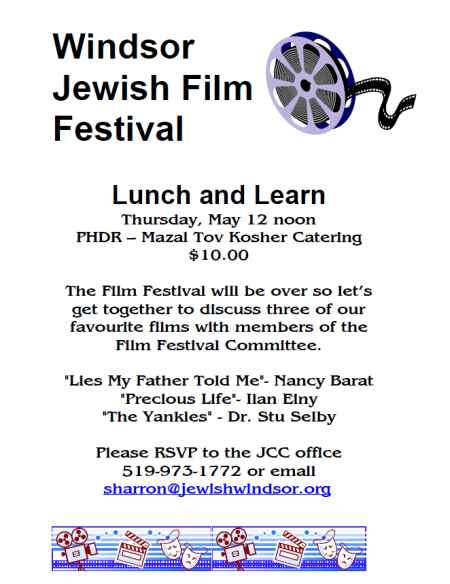 Windsor Jewish Film Festival - Lunch and Learn