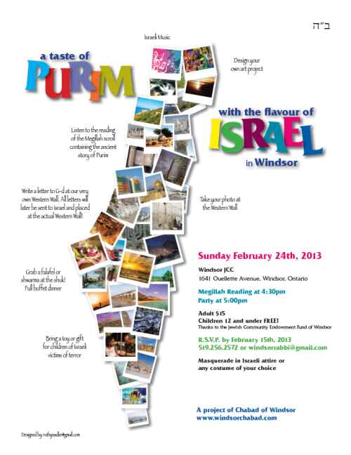 Join us for Purim Celebrations at the Windsor JCC