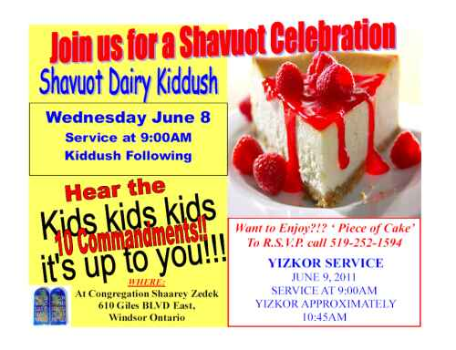 Join us for a Shavuot Celebration